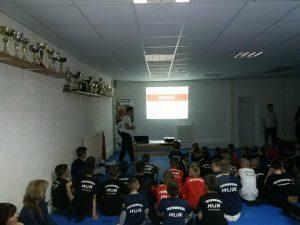 Predavanje na temu psihologije u sportu u prostorijama TKD Nur u Kaknju