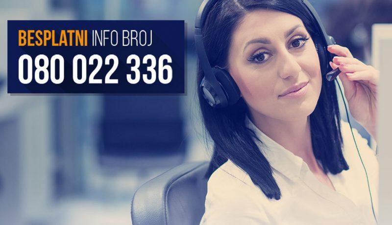NOVO u LIDER-u!!!  Besplatna info linija za naše klijente!