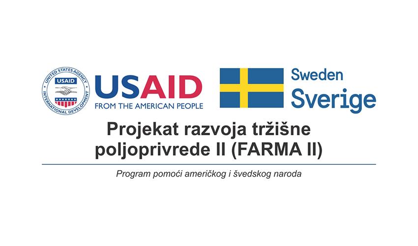 USAID/Sweden FARMA II - NOVI GRANTOVI ZA SEKTOR POLJOPRIVREDE: SEDAM PAKETA U JEDNOM POZIVU