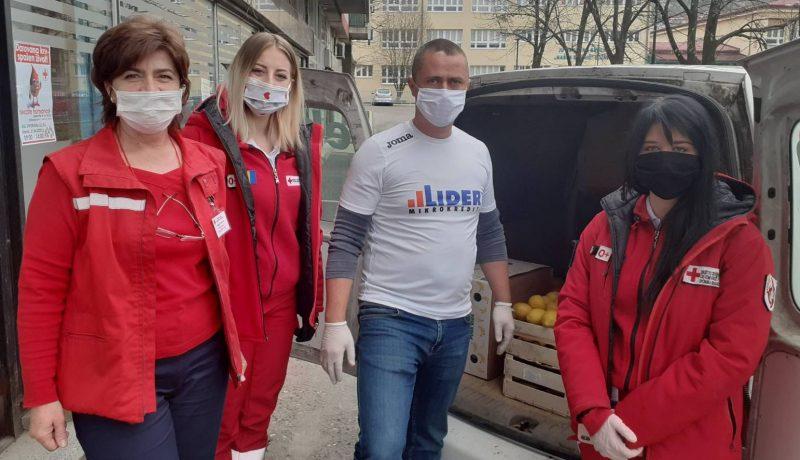 MKF LIDER donirao 100 kg voća Crvenom križu u Ilijašu